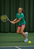 Rotterdam, The Netherlands, 15.03.2014. NOJK 14 and 18 years ,National Indoor Juniors Championships of 2014, Margriet Timmermans (NED)<br /> Photo:Tennisimages/Henk Koster