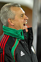 Javier Aguirre coach of Mexico is happy during his sides win against France