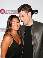 "WEST HOLLYWOOD, CA July 11- Jenna Ushkowitz, Nolan Gerard Funk,  At 2017 Outfest Los Angeles LGBT Film Festival Screening of ""Hello Again"" at The DGA Theater, California on July 11, 2017. Credit: Faye Sadou/MediaPunch"