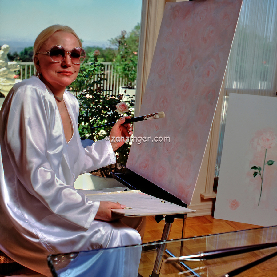Peggy Lee, American, Jazz, Popular Music, Singer, Songwriter, Composer, Actress, Painting Pink Roses