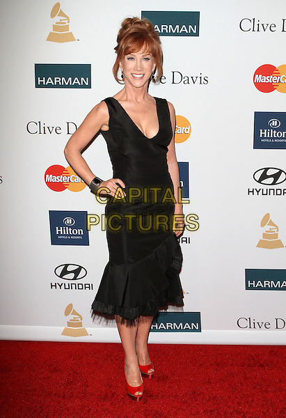 Kathy Griffin.Clive Davis And The Recording Academy's 2012 Pre-GRAMMY Gala Held at Beverly Hilton Hotel, Beverly Hills, California, USA..February 11th, 2012.full length black dress hand on hip.CAP/ADM/KB.©Kevan Brooks/AdMedia/Capital Pictures.