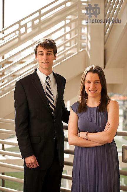 Mar. 27, 2012; Yarrow award winners..Photo by Matt Cashore/University of Notre Dame