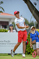 Keita NAKAJIMA (JPN) watches his tee shot on 12 during Rd 4 of the Asia-Pacific Amateur Championship, Sentosa Golf Club, Singapore. 10/7/2018.<br /> Picture: Golffile | Ken Murray<br /> <br /> <br /> All photo usage must carry mandatory copyright credit (&copy; Golffile | Ken Murray)