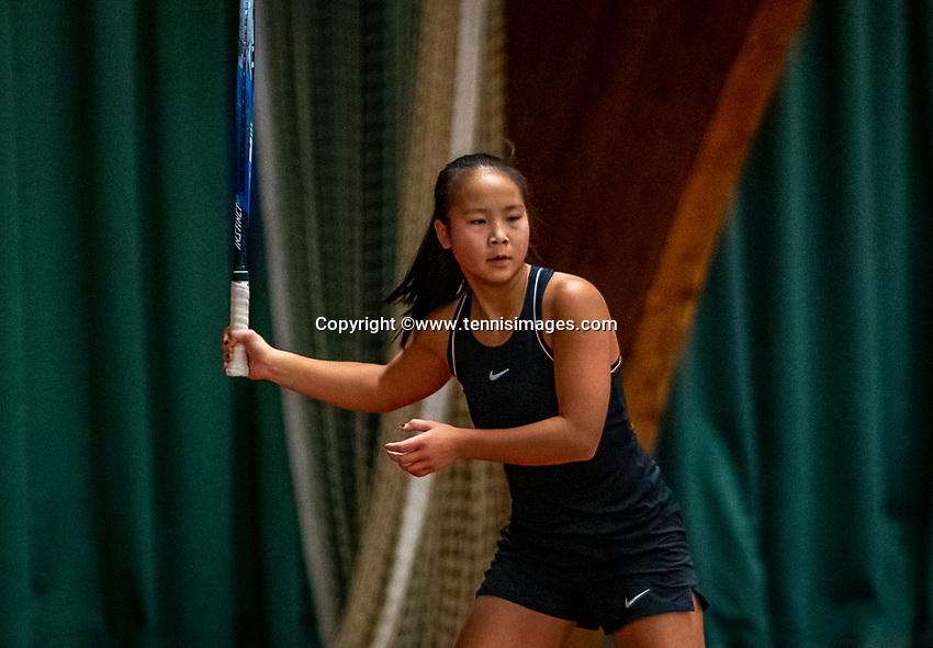 Wateringen, The Netherlands, December 4,  2019, De Rhijenhof , NOJK 14 and18 years, Milou Ter Morsche (NED)<br /> Photo: www.tennisimages.com/Henk Koster