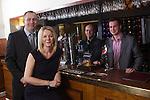 Cleerdoor.Marsha Ward & Michael Shallish with James Barnsley & Mark Tuck who run the Six Bells in Penmark..13.02.13.©Steve Pope