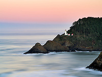 Heceta Lighthouse at sunrise. Oregon