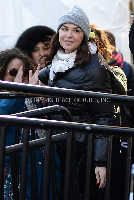 www.acepixs.com<br /> January 20, 2018  New York City<br /> <br /> Annabella Sciorra at the Women's March on January 20, 2018 in New York City.<br /> <br /> Credit: Kristin Callahan/ACE Pictures<br /> <br /> Tel: 646 769 0430<br /> Email: info@acepixs.com
