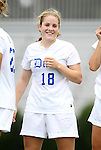 21 August 2011: Duke's Maddy Haller. The Duke University Blue Devils defeated the University of South Carolina Gamecocks 2-0 at Koskinen Stadium in Durham, North Carolina in an NCAA Women's Soccer game.