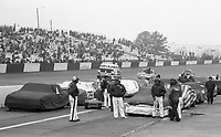 Cars lined up on a cold winter day, Atlanta Journal 500 at Atlanta International Raceway on November 11, 1984. (Photo by Brian Cleary/www.bcpix.com)