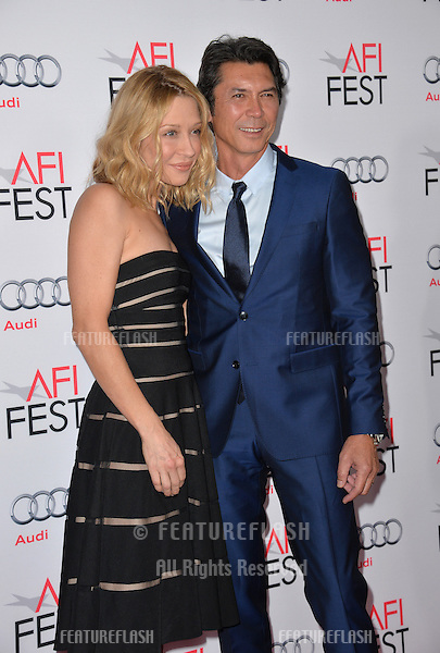 Actor Lou Diamond Phillips &amp; wife Lou Diamond Phillips at the premiere of his movie &quot;The 33&quot;, part of the AFI FEST 2015, at the TCL Chinese Theatre, Hollywood. <br /> November 9, 2015  Los Angeles, CA<br /> Picture: Paul Smith / Featureflash
