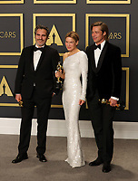 09 February 2020 - Hollywood, California -     Joaquin Phoenix, Renée Zellweger, Brad Pitt attend the 92nd Annual Academy Awards presented by the Academy of Motion Picture Arts and Sciences held at Hollywood & Highland Center. Photo Credit: Theresa Shirriff/AdMedia
