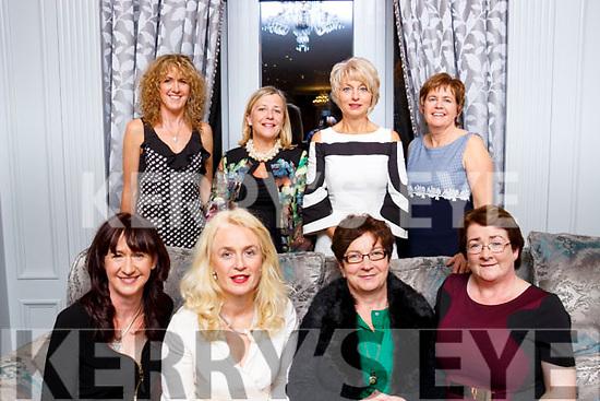 Attending the Colaiste Ide reunion at the Rose Hotel, Tralee on Saturday night last. Seated Siobhan Ni Bhrosnachan, Trocaíre Ní Sheoígh, Eilís Ní Mhuineachaia agus Caitríana Ní Bhrain. Standing, Mairéad Ni Bhrosnachan, Maíre Nic an Rí, Caít Ní Grainne agus Bríd Nic Gearailt