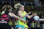 2016 Fast 5 Netball World Series<br /> Game 9<br /> Australia v New Zealand<br /> <br /> Photo: Grant Treeby