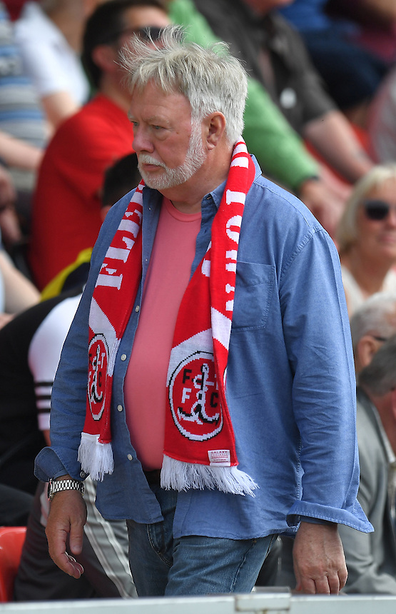 Fleetwood fans<br /> <br /> Photographer Dave Howarth/CameraSport<br /> <br /> Football - The Football League Sky Bet League One - Fleetwood Town v Crewe Alexandra - Sunday 8th May 2016 - Highbury Stadium - Fleetwood    <br /> <br /> &copy; CameraSport - 43 Linden Ave. Countesthorpe. Leicester. England. LE8 5PG - Tel: +44 (0) 116 277 4147 - admin@camerasport.com - www.camerasport.com