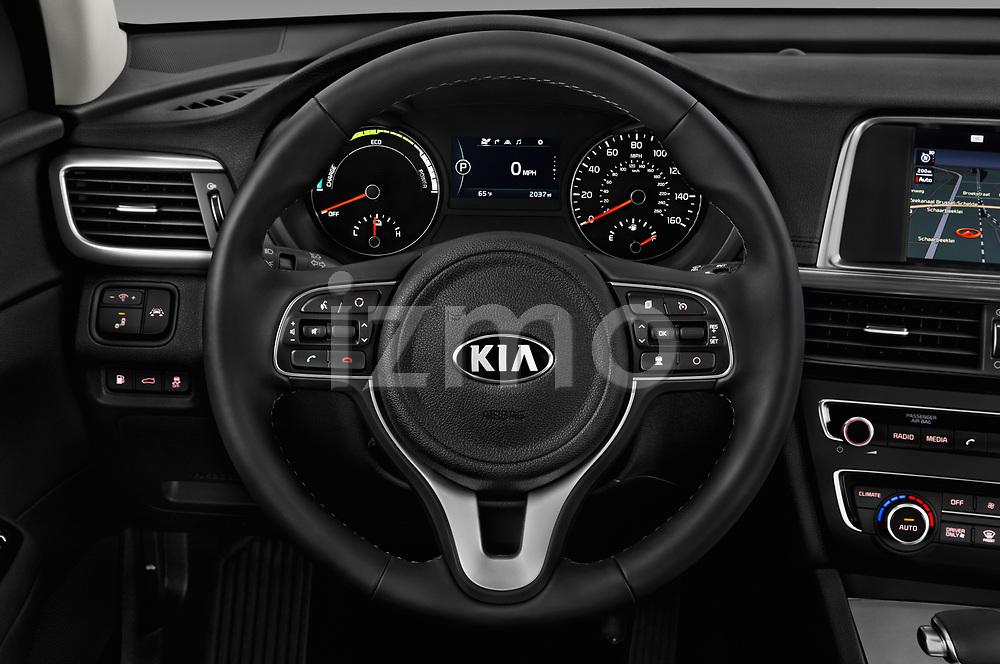 Car pictures of steering wheel view of a 2017 KIA Optima Plug-In Hybrid 4 Door Sedan
