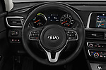 Car pictures of steering wheel view of a 2018 KIA Optima Plug-In Hybrid 4 Door Sedan