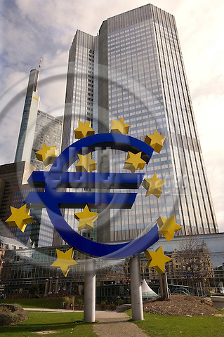 FRANKFURT - GERMANY - 09 APRIL 2006 -- The European Central Bank, ECB, is the central bank for Europe's single currency, the euro. PHOTO: CLAUS HAAGENSEN / EUP-IMAGES