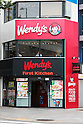 A general view of a combined Wendy's and First-Kitchen joint fast food restaurant in Ueno on May 24, 2016, Tokyo, Japan. Japanese beverage manufacturer Suntory Holdings Ltd. announced on Monday that it will sell its shares in the First-Kitchen Ltd. hamburger chain to Wendy's Japan LLC. The First-Kitchen chain, which was launched in 1977, operates some 135 outlets in the Tokyo metropolitan area and western Japan and had sales of ¥8.7 billion ($79 million) in 2015. Wendy's plans to keep the First-Kitchen brand after the acquisition and operate joint branded restaurants. (Photo by Rodrigo Reyes Marin/AFLO)