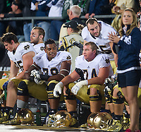 The offensive line takes a breather in the third quarter.