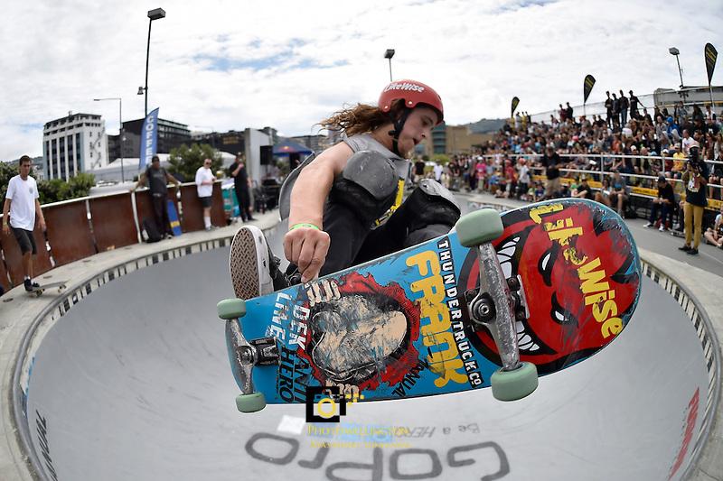 Action from Bowl-A-Rama at Waitangi Park, Wellington,  New Zealand on Saturday 31 January 2015. <br /> Photo by Masanori Udagawa.   <br />  www.photowellington.photoshelter.com.