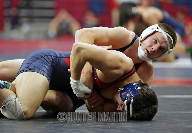 PHILADELPHIA, PA - NOVEMBER 18: Jason Nolf of the Penn State Nittany Lions wrestles during a match at the Keystone Classic on November 18, 2018 at The Palestra on the campus of the University of Pennsylvania in Philadelphia, Pennsylvania. (Photo by Hunter Martin/Getty Images) *** Local Caption *** Jason Nolf