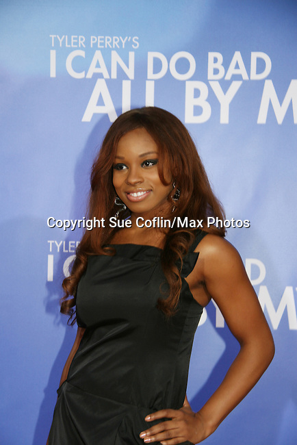 """Devyn Simone attends The New York Premiere of Tyler Perry's """"I Can Do Bad All By Myself"""" at The School of Visual Arts Theatre on September 8, 2009. (Photo by Sue Coflin/Max Photos)"""