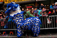 People attends Chinese Lunar New Year parade in Chinatown in New York, United States. 29/01/2012. Photo by Kena Betancur / viewpress.