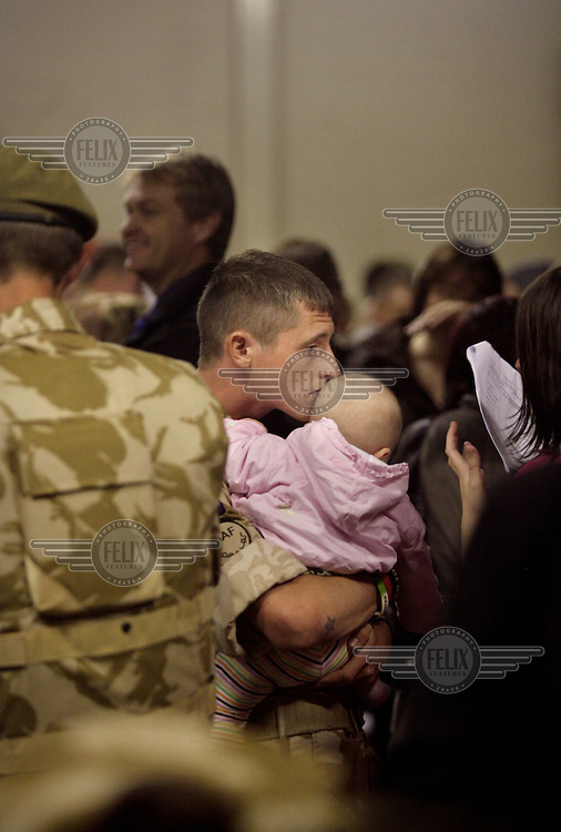 At their Aldershot barracks, the Welsh Guards regiment of the British army are reunited with their families after a six month tour of Afghanistan......