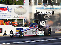 May 16, 2014; Commerce, GA, USA; NHRA top fuel driver Antron Brown during qualifying for the Southern Nationals at Atlanta Dragway. Mandatory Credit: Mark J. Rebilas-USA TODAY Sports