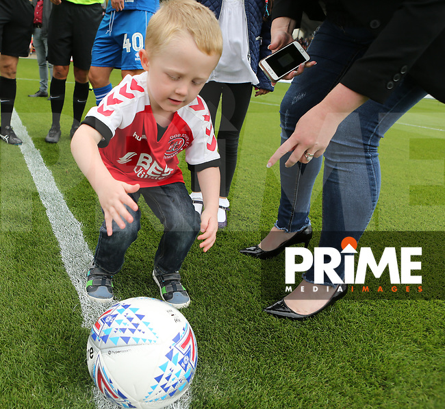 Fleetwood Town Match Ball Sponsors for the Sky Bet League 1 match between Fleetwood Town and Rochdale at Highbury Stadium, Fleetwood, England on 18 August 2018. Photo by Stephen Gaunt / PRiME Media Images.