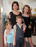 Marcia Gay Harden with her children at The Warner Bro. Pictures' World Premiere of Born to be Wild 3d held at The California Science Center in Los Angeles, California on April 03,2011                                                                               © 2010 Hollywood Press Agency