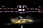 DALLAS, TX - APRIL 2: The South Carolina Gamecocks and Mississippi State Lady Bulldogs await the opening tipoff during the 2017 Women's Final Four at American Airlines Center on April 2, 2017 in Dallas, Texas. A tilt shift lens was used to create the visual effect. (Photo by Timothy Nwachukwu/NCAA Photos via Getty Images)