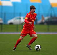 16th November 2019; Leckwith Stadium, Cardiff, Glamorgan, Wales; European Championship Under 19 2020 Qualifiers, Russia under 19s versus Wales under 19s; Iestyn Hughes of Wales Under 19 - Editorial Use