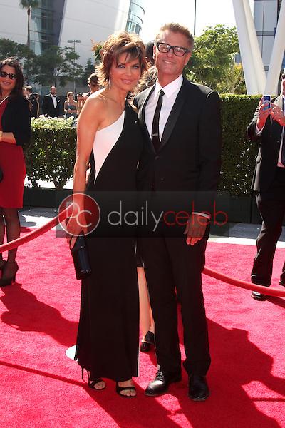 Lisa Rinna, Harry Hamlin<br /> at the Primetime Creative Arts Emmy Awards  2013 Arrivals, Nokia Theater, Los Angeles, CA, 09-15-13<br /> David Edwards/DailyCeleb.Com 818-249-4998