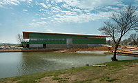 NWA Democrat-Gazette/BEN GOFF @NWABENGOFF<br /> A view of the new flight center under construction Friday, March, 23, 2018, at Bentonville Municipal Airport.