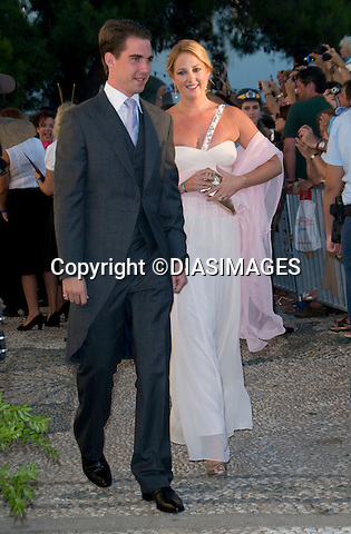 "PRINCE NIKOLAOS AND TATIANA BLATNIK WEDDING_Princess Theodora and Prince Philippos of Greece.St Nikolaos Church, Spetses, Greece_25/08/2010.Mandatory Credit Photo: ©DIASIMAGES..**ALL FEES PAYABLE TO: ""NEWSPIX INTERNATIONAL""**..IMMEDIATE CONFIRMATION OF USAGE REQUIRED:.Newspix International, 31 Chinnery Hill, Bishop's Stortford, ENGLAND CM23 3PS.Tel:+441279 324672  ; Fax: +441279656877.Mobile:  07775681153.e-mail: info@newspixinternational.co.uk"