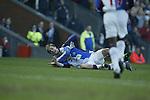 Gary Flitcroft celebrates with scorer Tugay of Blackburn - Blackburn Rovers v Arsenal - Premier League - Ewood Park Stadium - Blackburn - 15th March 2003 - Pics Simon Bellis