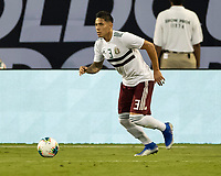 CHARLOTTE, NC - JUNE 23: Carlos Salcedo #3 during a game between Mexico and Martinique at Bank of America Stadium on June 23, 2019 in Charlotte, North Carolina.