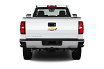 Straight rear view of a 2018 Chevrolet Silverado 2500HD Work Truck Regular Cab  2 Door Pick Up stock images