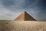 The Great Pyramid of Khufu at Giza, near Cairo, Egypt.
