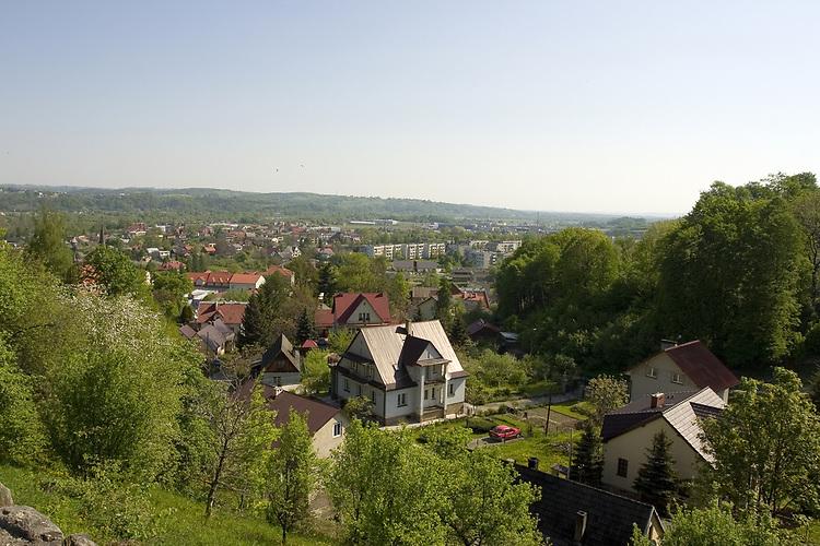 Panorama of Dobczyce, Poland