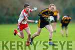 Colm Cooper Dr Crokes goes past 10 Gaelteacht during their County League Div 1 final in Lewis Rd on Sunday