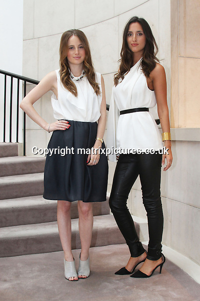 NON EXCLUSIVE PICTURE: MATRIXPICTURES.CO.UK<br /> PLEASE CREDIT ALL USES<br /> <br /> WORLD RIGHTS EXCEPT IRELAND<br /> <br /> English Made In Chelsea reality television star Rosie Fortescue and her twin sister Lily are pictured as they promote their lingerie range Cheek Frills at BT's department store in Dublin, Ireland.<br /> <br /> JULY 24th 2013<br /> <br /> REF: MDE 135120