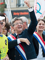 September 23 2017, Paris, France - Demonstration against the Reform of Labour Law led by the French politician Jean-Luc Melenchon Leader of 'La France Insoumise'. # MANIFESTATION CONTRE LA LOI TRAVAIL EN FRANCE
