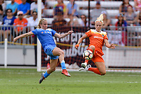 Houston, TX - Saturday April 15, 2017: Alyssa Mautz, Rachel Daly during a regular season National Women's Soccer League (NWSL) match between the Houston Dash and the Chicago Red Stars at BBVA Compass Stadium.