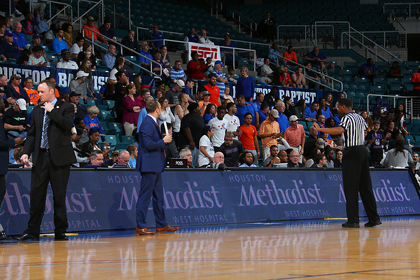 KATY, TX - MARCH 8: Houston Baptist v Sam Houston State Mens Basketball during the Southland Conference basketball Tournament Game 3 at Merrell Center in Katy on March 8, 2017 in Katy, Texas. (Photo by Rick Yeatts)