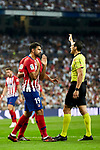 Real Madrid's XXX and Atletico de Madrid's XXX during La Liga match between Real Madrid and Atletico de Madrid at Santiago Bernabeu Stadium in Madrid, Spain. September 29, 2018. (ALTERPHOTOS/A. Perez Meca)