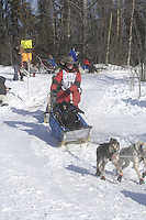 Kim Franklin Anchorage Start Iditarod 2008.