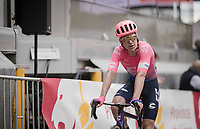Simon Clarke (AUS/EF Education First) crossing the finish line<br /> <br /> 83rd La Flèche Wallonne 2019 (1.UWT)<br /> One day race from Ans to Mur de Huy (BEL/195km)<br /> <br /> ©kramon