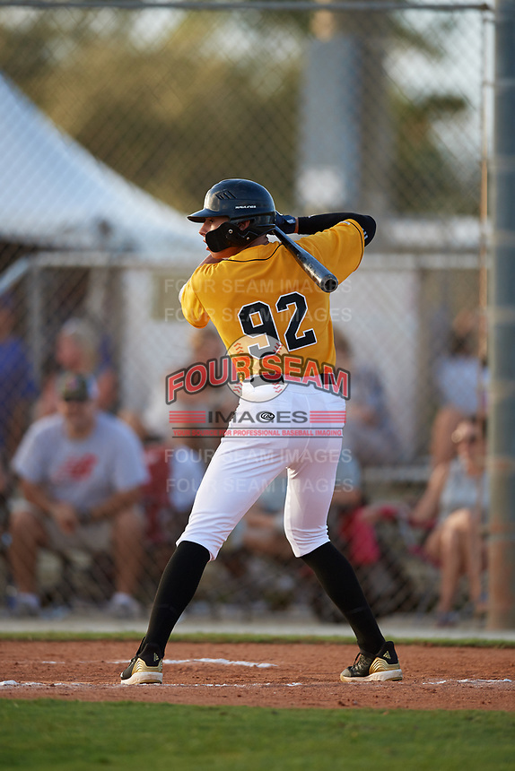Armando Hernandez during the WWBA World Championship at the Roger Dean Complex on October 18, 2018 in Jupiter, Florida.  Armando Hernandez is a shortstop from Yauco, Puerto Rico who attends Puerto Rico Baseball Academy.  (Mike Janes/Four Seam Images)